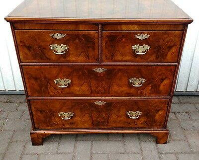 Antique Burr Walnut Chest Of Drawers,desk,bookcase,draws