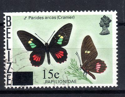 BELIZE STAMPS- Butterfly 35c surch. 15c and bar, 1979 (#)