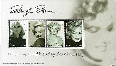 Niue 2007 Marilyn Monroe mini sheet  UM (MNH)