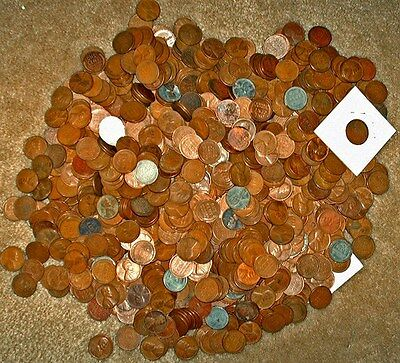 """1000+  """" Sculpted"""" Bulk Wheat Cents  {OFFER HAS CHANGED 6/1/17 SEE DESCRIPTION}"""
