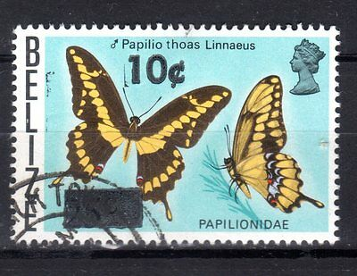 BELIZE STAMPS- Butterfly 25c surch. 10c , 1980 (#)