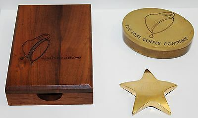 MAXWELL HOUSE COFFEE Lot of 3 RARE Company Achievement Rewards Collectibles