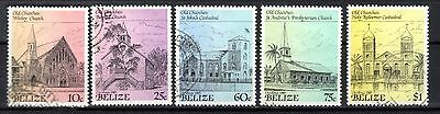 BELIZE STAMPS-Churches, set , 1989 (#)