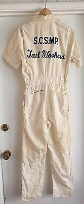 Vintage 1950s Tail Washers Georgia Coveralls Work Wear Men's Women's Embroidered