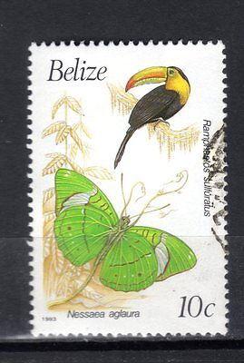 BELIZE STAMPS-Birds and butterflies 10c , 1993 (#)