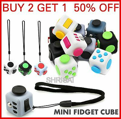 Mini Fidget Cube Children Desk Toys Anxiety Adults Stress Relief Cubes ADHD UK
