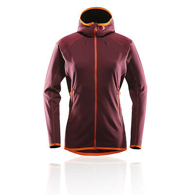 Haglofs Limber Womens Red Hoody Long Sleeve Hoodie Hooded Outdoor Jacket Top