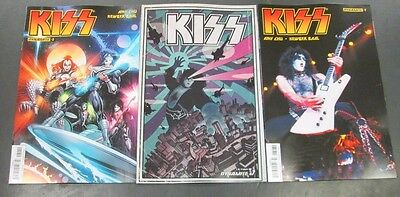 3x KISS 7; A MANDRAKE B WILSON C PHOTO First Printing Dynamite Comics Kiss HOT