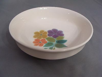 """Vintage 1970's Franciscan Earthenware Round 9"""" Bowl, In The Floral Pattern USA"""