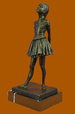 Hot Cast Prima Ballerina Bronze Sculpture Art Deco Marble Base Figurine Gift LRG