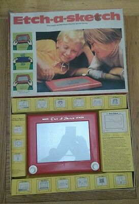 Vintage Etch A Sketch. With Box  Retro Drawing Toy.