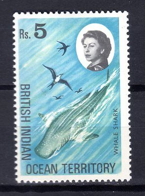 INDIAN OCEAN STAMPS- Whale shark 5r,  1968  (*)