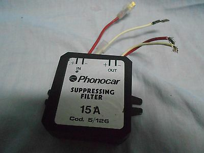 PHONOCAR Suppressing FILTER 15A Filtro Antirumore Auto CAR Vintage Used Untested