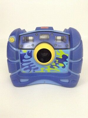 Fisher Price Kid Tough Electronic Digital Camera Blue Camo Kids Toy