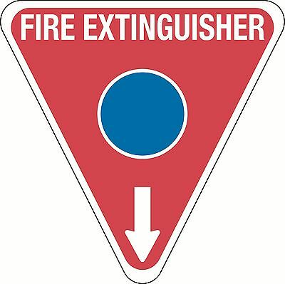 Fire Extinguisher Marker Triangle Sign Blue For Foam 350x350mm Polypropylene
