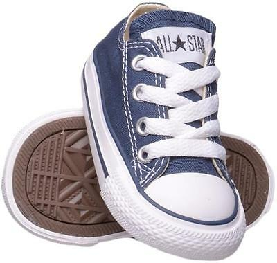 Converse All Star Chuck OX 7J237 Canvas Navy Blue Kids Baby Toddler Shoes