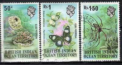 INDIAN OCEAN STAMPS- Wildlife 1st issue, set,  1973  (#)