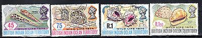 INDIAN OCEAN STAMPS- Wildlife 2nd issue, set,  1974  (#)