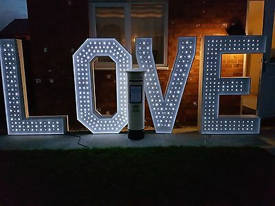 Light Up Love Letters Large Wedding Engagement With LED Lights Event *Hire*