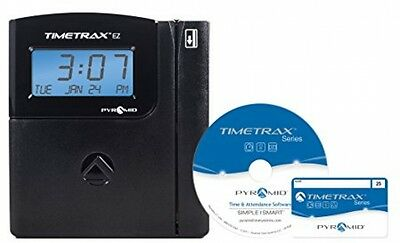 OpenBox Pyramid TimeTrax TTEZ Auto-Totaling Swipe Card Time Clock System Complet