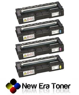 (4-PK) Compatible Toner Cartridge 407539-42 for Ricoh Aficio SP C250SF SP C250DN
