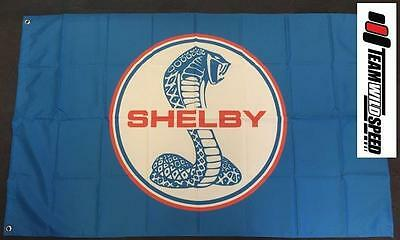 Shelby Cobra Large Flag  Banner Mancave Workshop Garage FORD,.MUSTANG,COBRA