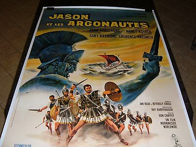 JASON AND THE ARGONAUTS Original Movie Poster, C8.5 Very Fine to Near Mint