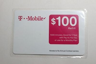 T-MOBILE $100 REFILL  Reload Directly to Phone or we can send you pin