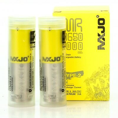 2X MXJO 3000MAH 35A IMR 18650 3.7V Battery Authentic Original Flat Top Batteries