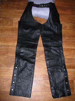 Event Leather Men's Braided Leather Chaps, Black, NWT, Sz. M