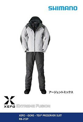 SHIMANO XEFO GORE-TEX Top Ranking PRESERVER SUIT RB-213P Argent mix size XL