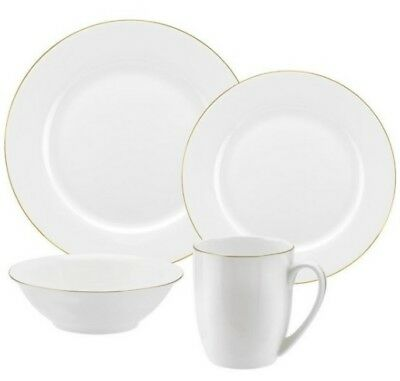 Royal Worcester Fine Bone China 16 Piece Dinner Set GOLD NEW £239.98