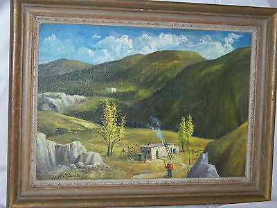 Xavier J.Barile Listed Ashcan WPA Artist Original Oil On Panel Gallery Painting