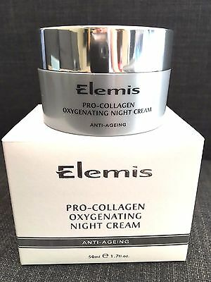 Elemis Pro-Collagen Oxygenating Night Cream 50Ml New In Box Use By May 2018