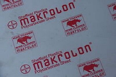 "Clear Polycarbonate Sheet 24"" x 48"" x 1/8"" Lexan Makrolon Thermoforming"