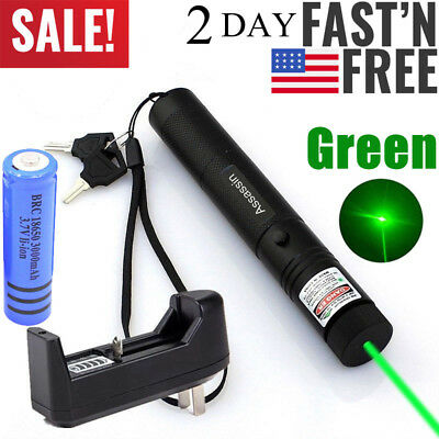 Rechargeable Aluminium Visible Beam Green Laser Pointer Lazer Pen Pet Cat Toy