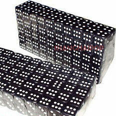 Lots of 50 Black & White Dice 14mm Poker Game Board Toy Party Casino Lot Small