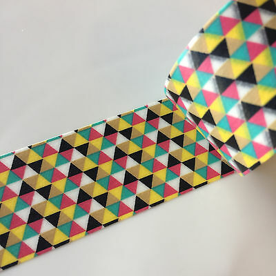 Washi Tape Wide 5 Colour Triangles 30Mm X 5Mtrs Craft Wrap Plan Scrap