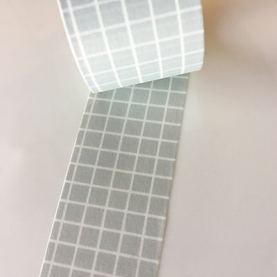 Washi Tape Wide Pale Grey Grid 30Mm X 5Mtrs Craft Wrap Plan Scrap