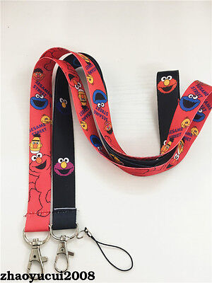 Sesame Street COOKIE MONSTER Neck Strap Lanyard Mobile Keys ID Keychain New Cute
