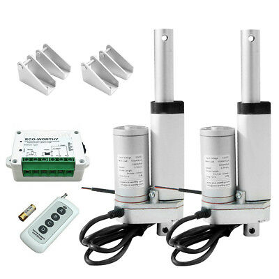 2 PCS 2 in 12V Multi-function Linear Actuator Motor & Remote Control Controller