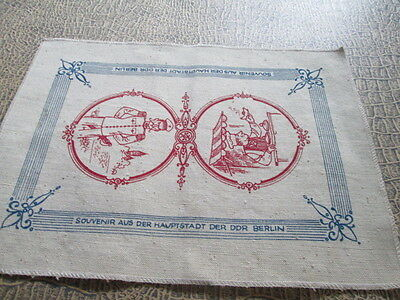 OLD vintage Placemats printed from Souvenir aus der DDR Berlin Germany