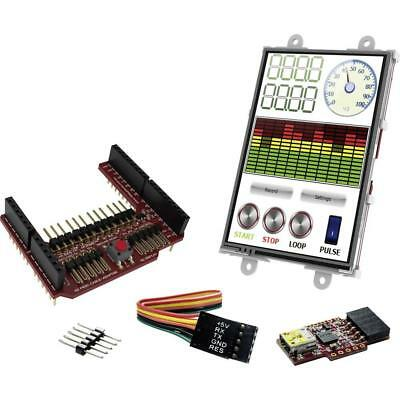 uLCD-35DT Display Module, 4D Arduino Adaptor Shield, 5 Way Cable uUSB-PA5 Cable