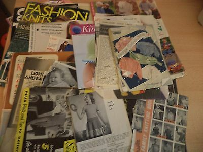JOB LOT MAGAZINES FASHION KNITTING PATTERNS SEWING ETC OLD VINTAGE 1940S - 2000s