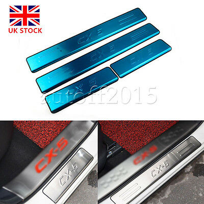 Car Door Sill Scuff Plate Protector For Mazda CX-5 CX5 2013-2016 Stainless Steel