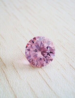 Unheated 3.4ct Pink Sapphire 8mm Round Shape AAA Color VVS Loose Gemstone