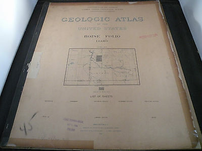 Antique Geologic Atlas of the USA, Idaho Boise Folio, maps, charts- 1898