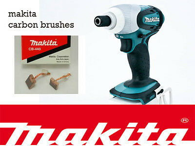 NEW Makita 18V Impact Driver Bhp451 BTD140 dtd146 Genuine CARBON BRUSHES CB440