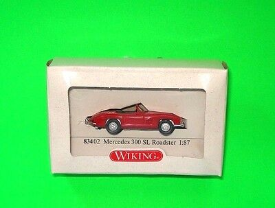 Wiking ### Mercedes 300 Sl Roadster - Cabrio - In Rot Mit Ovp 83402 ### 1:87=Top