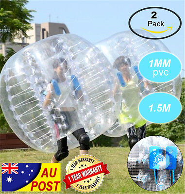2 PCS 1.5M Body Inflatable Gum Bumper Football Zorb Ball Bubble Soccer FAST SHIP